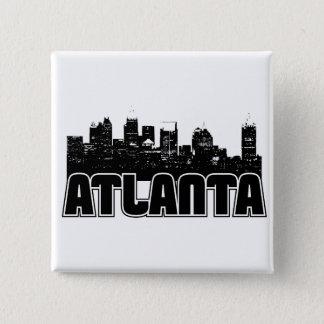 Atlanta Skyline 15 Cm Square Badge