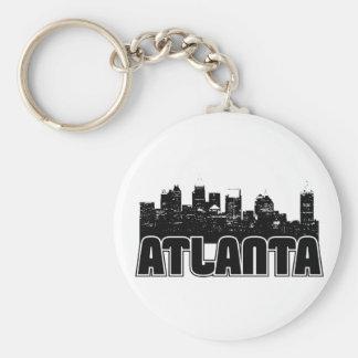 Atlanta Skyline Basic Round Button Key Ring