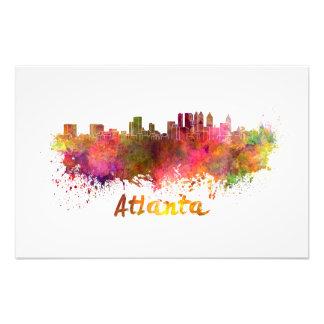 Atlanta skyline in watercolor photo