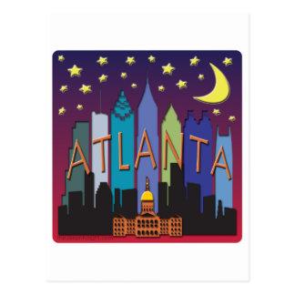 Atlanta Skyline mega color Postcard