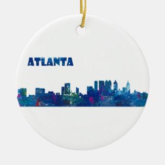 Atlanta Skyline Silhouette Christmas Ornament