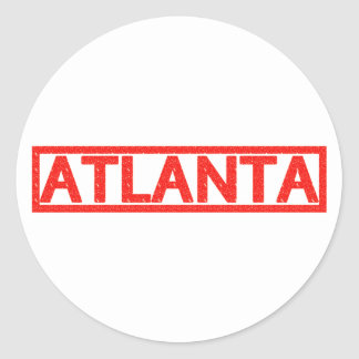 Atlanta Stamp Classic Round Sticker