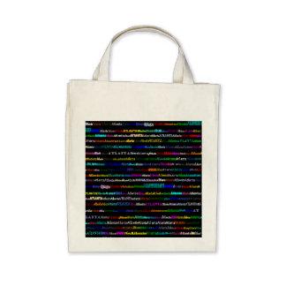 Atlanta Text Design I Organic Grocery Tote Bag