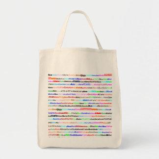 Atlanta Text Design II Organic Grocery Tote Bag
