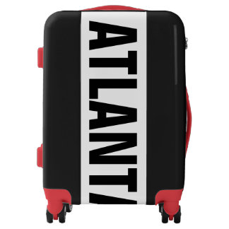 ATLANTA, Typo black Luggage