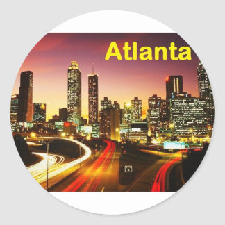 Atlanta (USA) (St.K) Classic Round Sticker