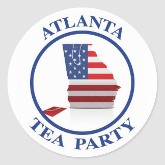 AtlantaTeaParty6 Classic Round Sticker