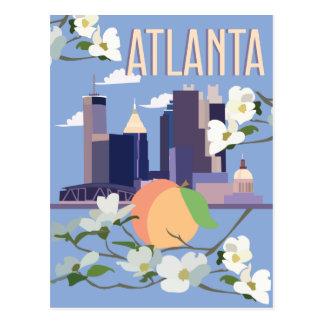 atlantatravelposter postcard