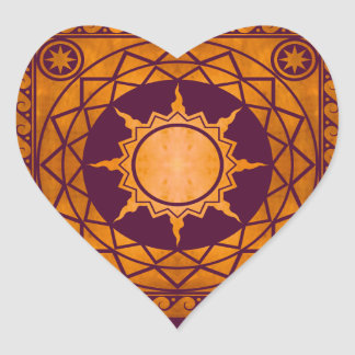 Atlantean Crafts Copper on Purple Heart Stickers