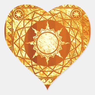 Atlantean Crafts Gold on Amber Wood Sticker