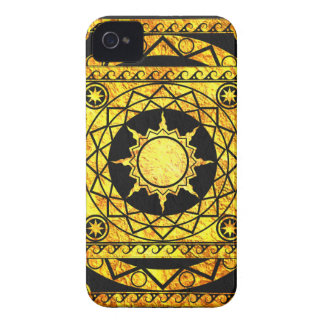 Atlantean Crafts Gold on Black Leather Case-Mate iPhone 4 Cases