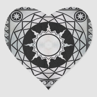 Atlantean Crafts Silver on Black Leather Stickers
