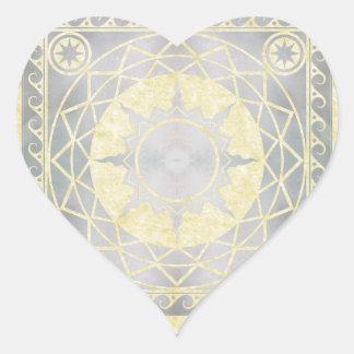 Atlantean Crafts Silver on Parchment Heart Sticker