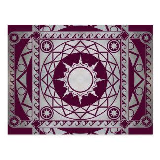 Atlantean Crafts Silver on Purple Postcard
