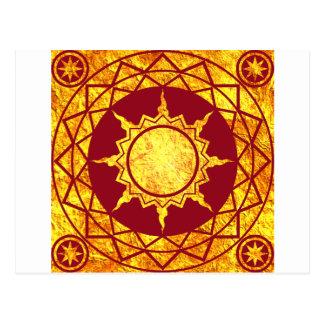 Atlantean Gold on Red Postcards