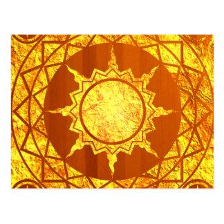 Atlantean Gold on Wood Postcard