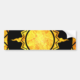 Atlantean Sun on Black Bumper Stickers