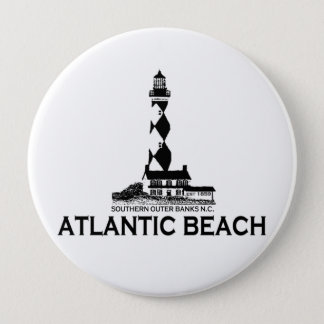 Atlantic Beach. 10 Cm Round Badge