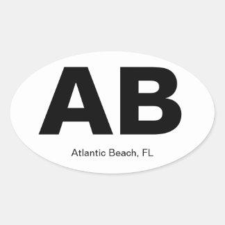 Atlantic Beach, FL Oval Sticker