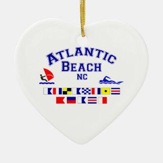 Atlantic Beach NC Signal Flag Christmas Ornament