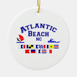 Atlantic Beach NC Signal Flag Christmas Ornament