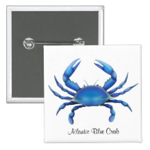 Atlantic Blue Crab Pin