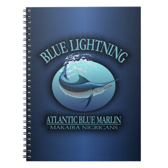 Atlantic Blue Marlin Spiral Notebook