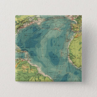 Atlantic cables, wireless stations 15 cm square badge