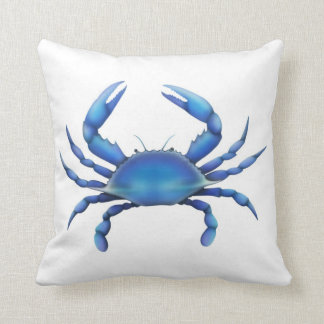 Atlantic Chesapeake Blue Crab Pillow