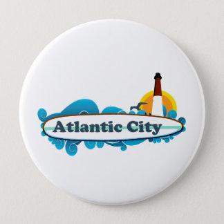 Atlantic City. 10 Cm Round Badge