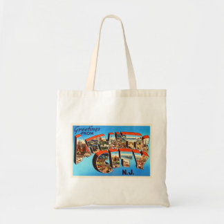 Atlantic City 1 New Jersey NJ Vintage Travel - Budget Tote Bag