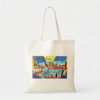 Atlantic City 2 New Jersey NJ Vintage Travel - Budget Tote Bag