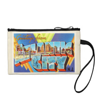 Atlantic City 2 New Jersey NJ Vintage Travel - Coin Wallet