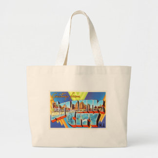 Atlantic City 2 New Jersey NJ Vintage Travel - Jumbo Tote Bag