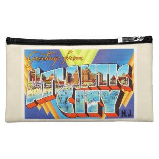Atlantic City 2 New Jersey NJ Vintage Travel - Makeup Bag