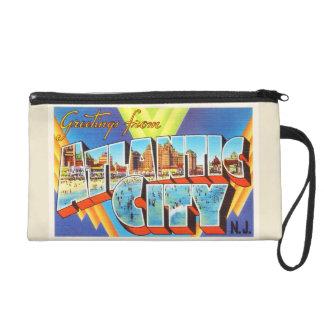 Atlantic City 2 New Jersey NJ Vintage Travel - Wristlet Clutch