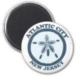 Atlantic City. 6 Cm Round Magnet