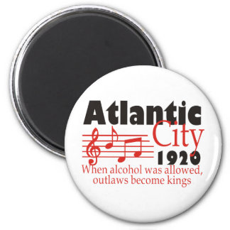 Atlantic City 6 Cm Round Magnet