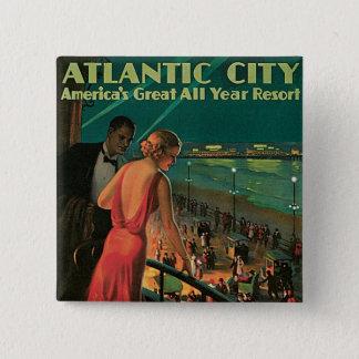 Atlantic City ~ All Year Resort 15 Cm Square Badge