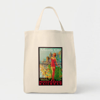 Atlantic City ~ America's All Year Playground Grocery Tote Bag
