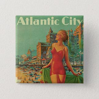 Atlantic City - America's All Year Resort 15 Cm Square Badge