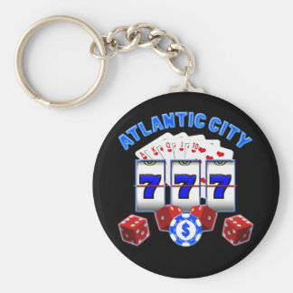 ATLANTIC CITY BASIC ROUND BUTTON KEY RING