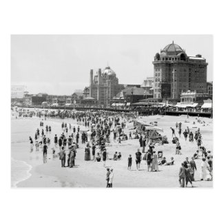 Atlantic City Beach & Boardwalk, 1910 Postcard