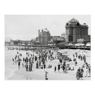 Atlantic City Beach & Boardwalk, 1910 Postcard