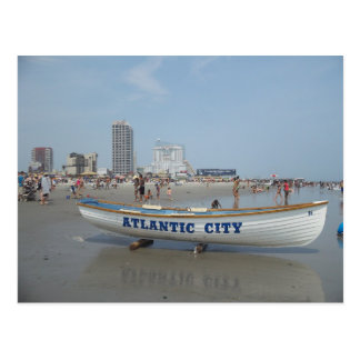 Atlantic City Beach Postcard