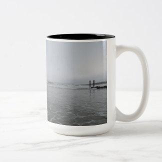 Atlantic City Beach Two-Tone Mug