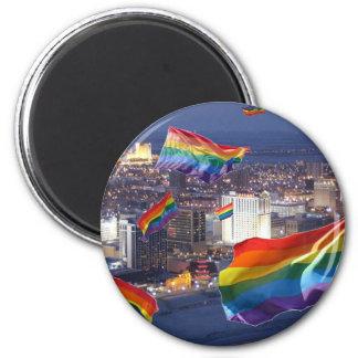 Atlantic City Flying Pride Magnet