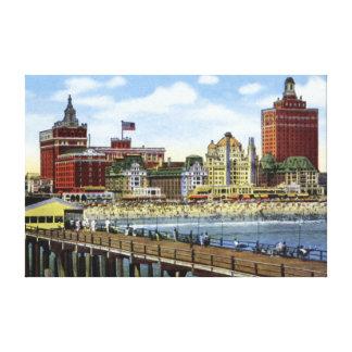 Atlantic City New Jersey Along the Shoreline Canvas Print