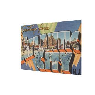 Atlantic City, New Jersey (Boardwalk Scene) Canvas Print