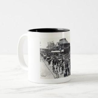 Atlantic City, New Jersey, Easter Sunday, Vintage Two-Tone Coffee Mug
